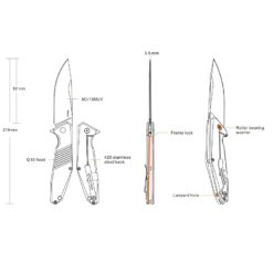 D191 info om fällkniv från Ruike