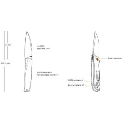 p661 info om fällkniv från Ruike