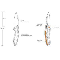 Fällkniv P843 info från Ruike